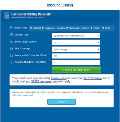 inbound calling staffing calculator