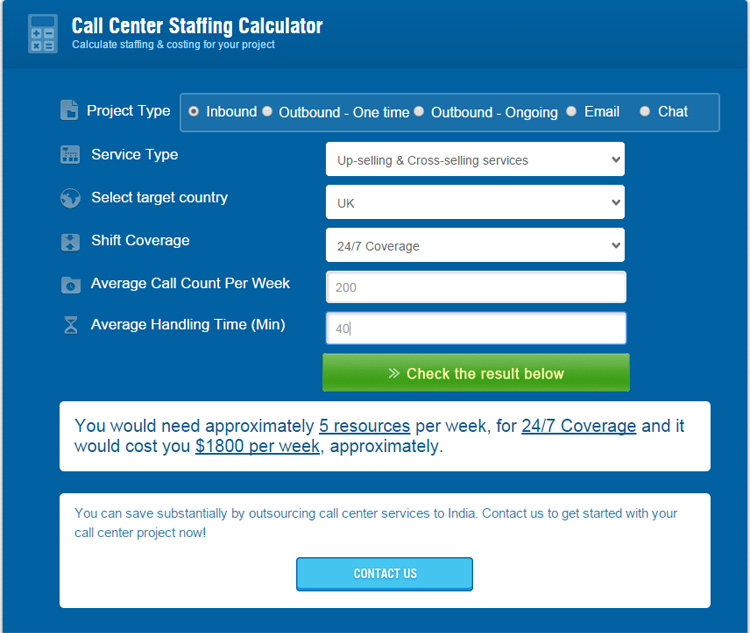 Call Center FTE Calculator User Guide - Outsource2india