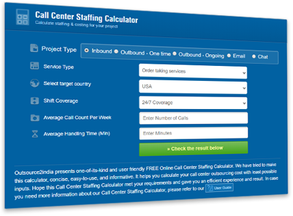 Proprietary Call Center Pricing Calculator
