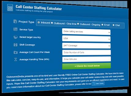 Proprietary Call Center Pricing Calculator