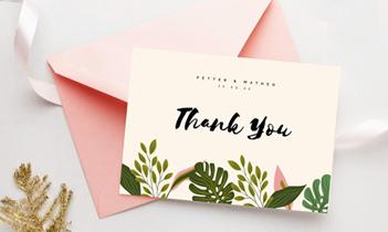 Thank You Card Design Services