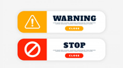 Warning Sticker Designs