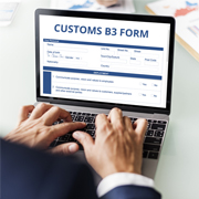 B3 Form Processing for International Customs Broker