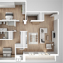 3D Floor Plan - Top View