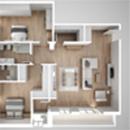 3D Floor Plan - Top View