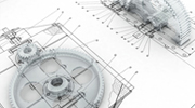 Technical Drawing of Mechanical Components