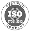 ISO 27001-2013 Certified Company