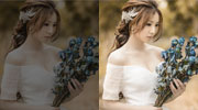 Light Airy Wedding Portrait Enhancement