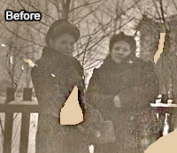 Restoring Missing Parts of the Photo Before