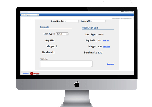 Mortgage Dashboard Loan Application Details