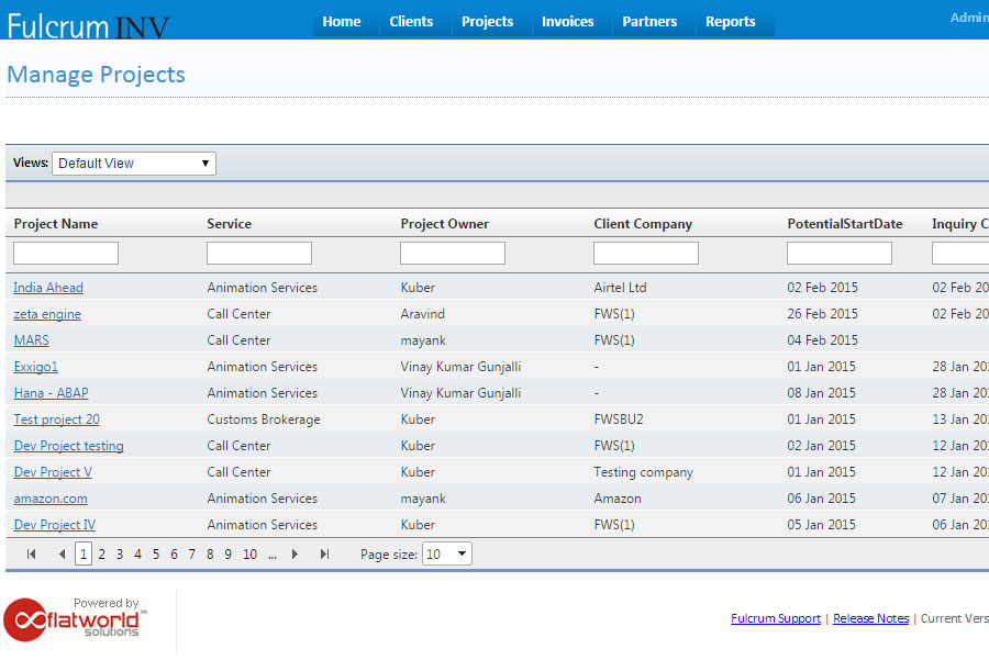 Fulcrum Invoices Software Outsourceindia - Software development invoice