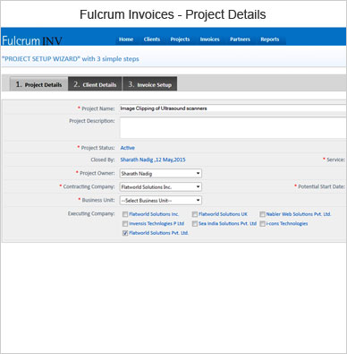Fulcrum Invoice Project Details