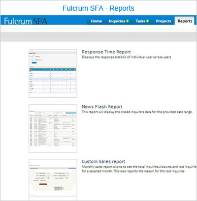 Fulcrum SFA Reports