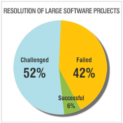 Resolution of large software projects