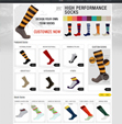 O2I Provided e-Commerce Website for a Socks Manufacturer