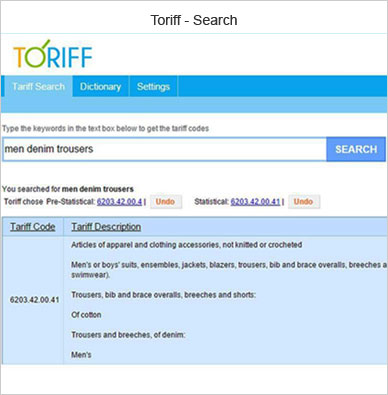 toriff search2