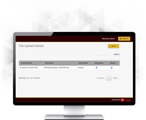 Uploaded File Log Page