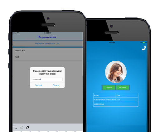 e-Learning App for iOS on Going Classes
